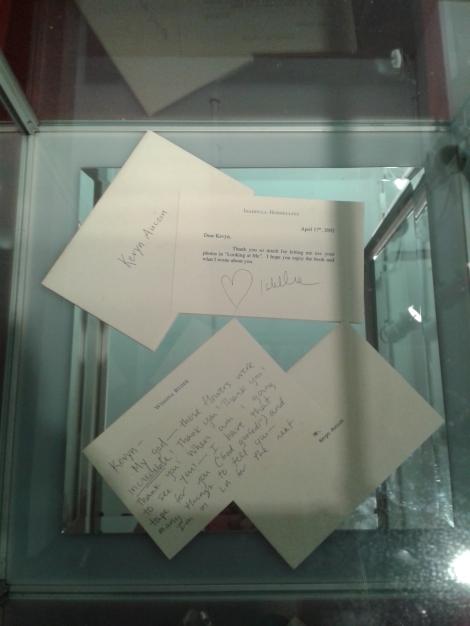 Cartas  de agradecimento, de Winona Ryder e Isabella Rosellini