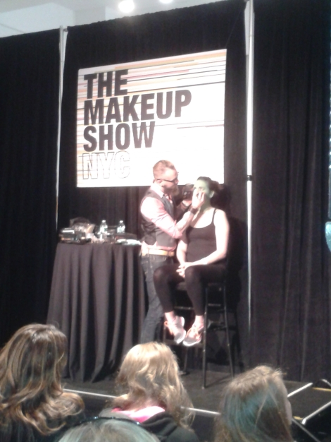 Joe Dulude at The Makeup Show 2014