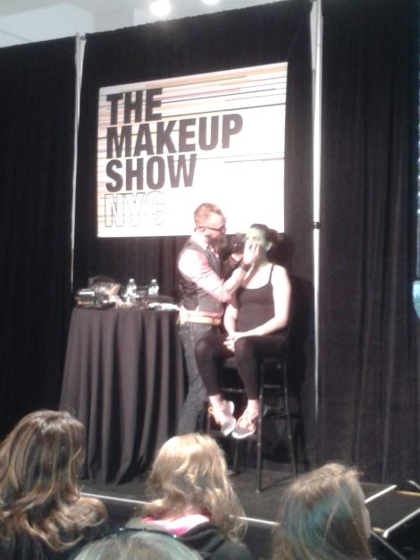 Joe Dulude at The Makeup Show 2014