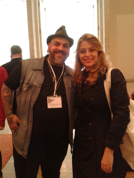 Com James Vincent, Diretor de Arte do The Makeup show.