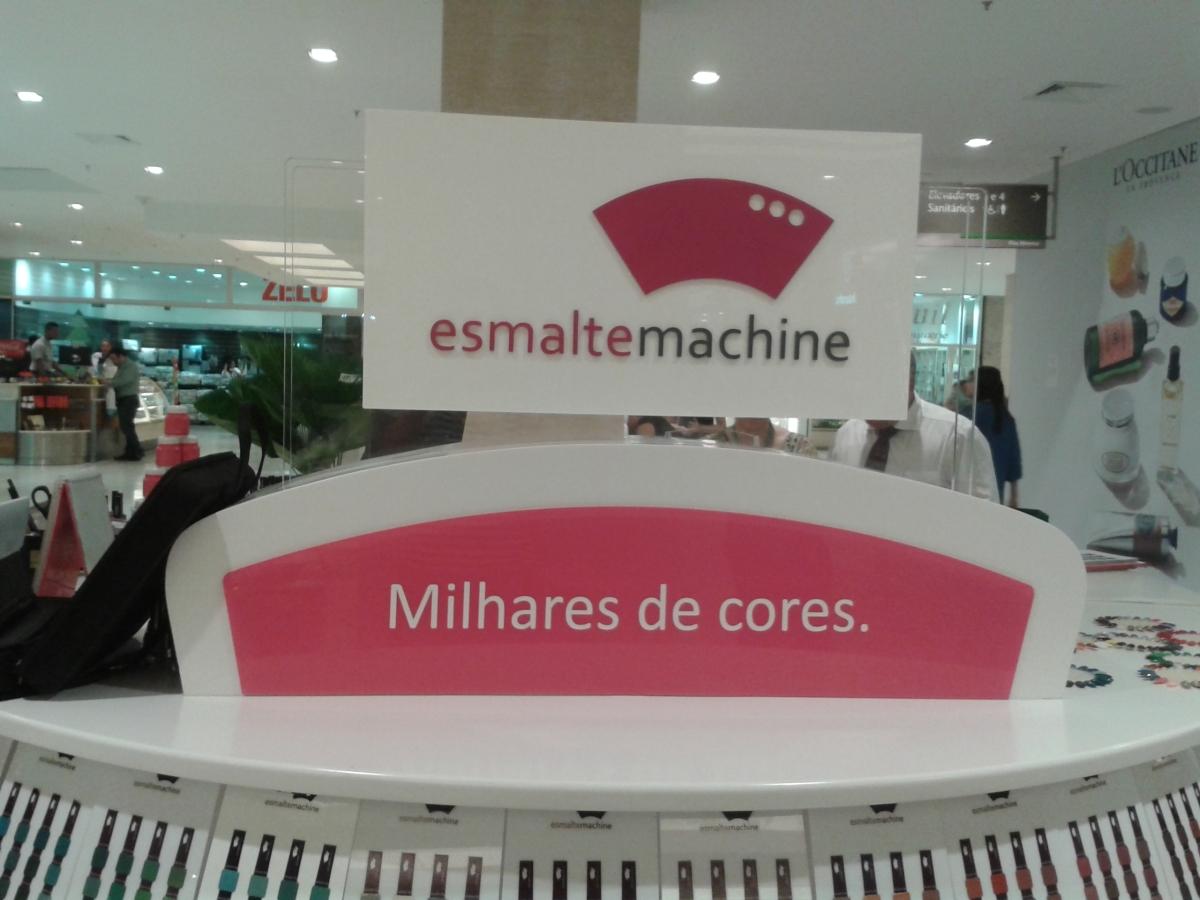 ESMALTE MACHINE: Conheça a fábrica de esmaltes que Inaugurou em Shopping de SP Capital!
