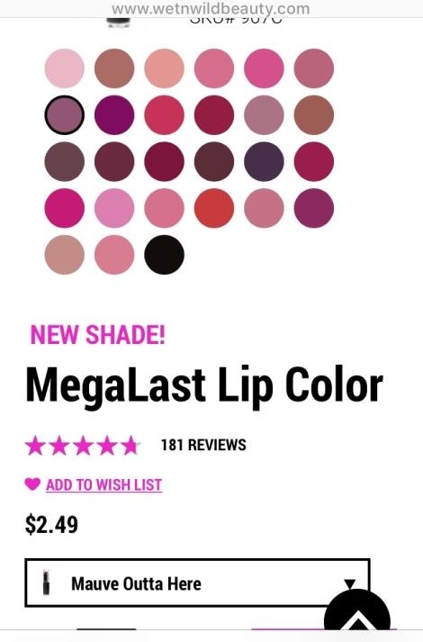 WetnWildMegaLastLIPCOLORcores
